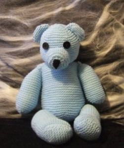 knit teddy bear
