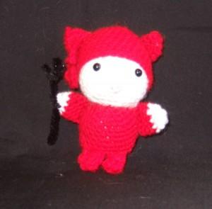 crochet hello kitty devil