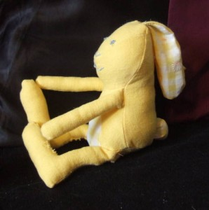 stuffed toy rabbit profile