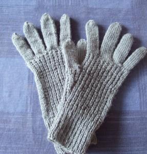 mens vintage garter rib gloves